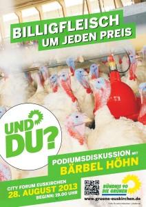 Billigfleisch um jeden Preis - Podiumsdiskussion mit Bärbel Höhn