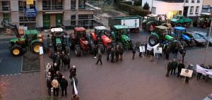 Demo im Vorfeld der Infoveranstaltung zum Jagdgesetz
