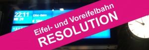 Resolution Eifel- und Voreifelbahn