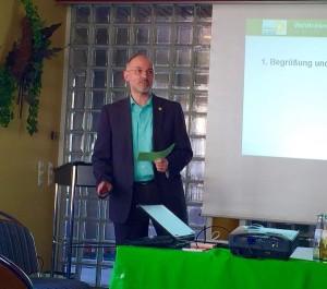 Hans-Werner Ignatowitz bei seiner Vorstellung als Landratskandidat
