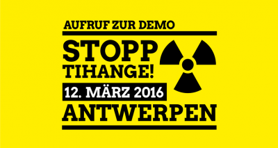 Anti-Atom-Demo am 12. März 2016 in Antwerpen