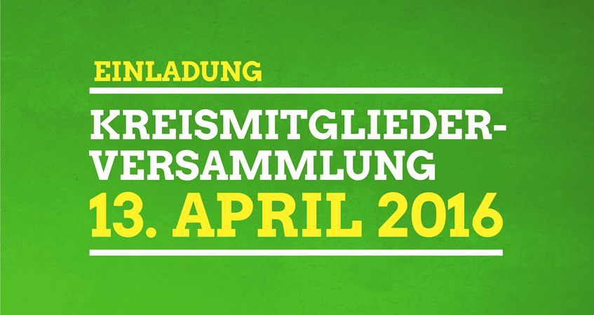 Kreismitgliederversammlung - 13. April 2016