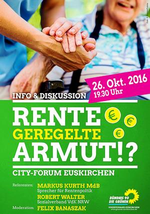 Rente - geregelte Armut!? - Info & Diskussion