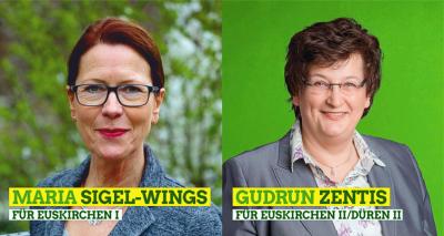 Unsere Wahlkreis Kandidatinnen Maria-Sigel Wings & Gudrun Zentis