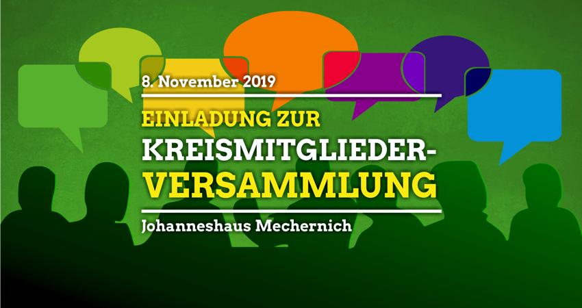 Einladung zur Kreismitgliederversammlung am 8. November 2019 in Mechernich