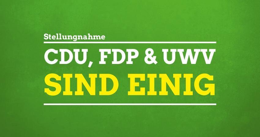 CDU, FDP & UWV sind einig