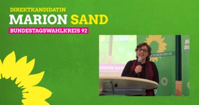 Bundestagskandidatin Marion Sand