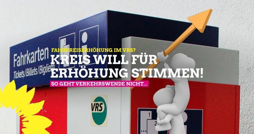 Kreis Euskirchen wir für Fahrpreiserhöhung im VRS Stimmen - So geht Verkehrswende nicht...